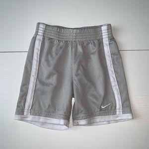 🌺 Nike | athletic shorts | 18 months | gray/white
